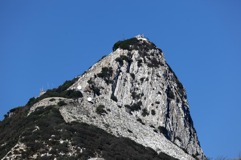 直布罗陀的岩石 免版税图库摄影