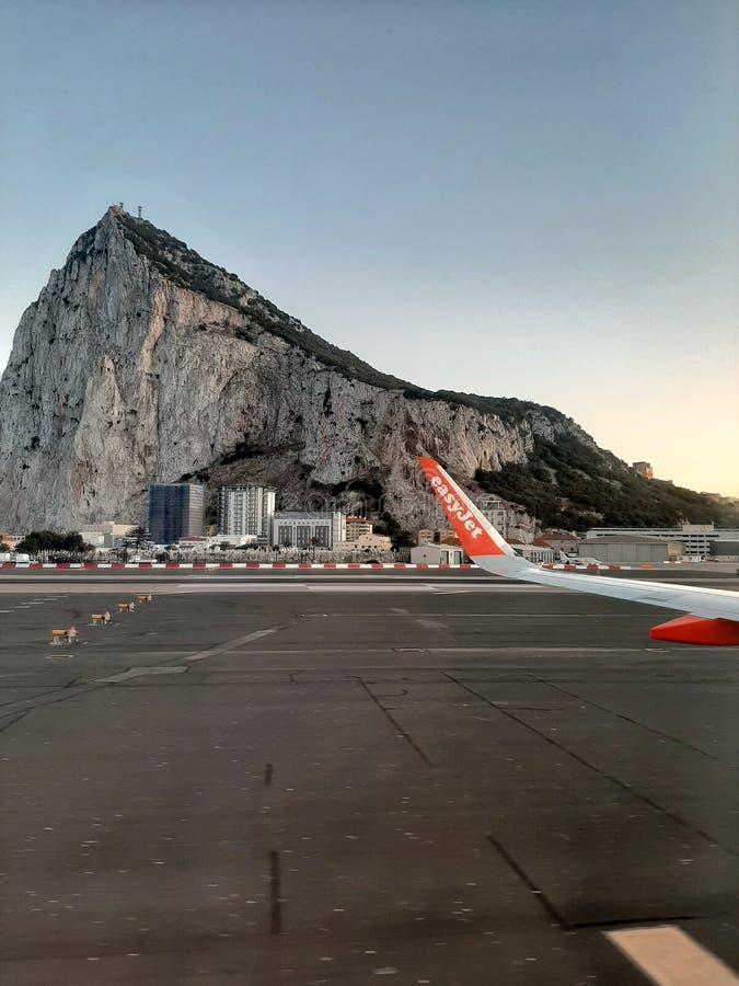 直布罗陀的Easyjet出租车 免版税图库摄影
