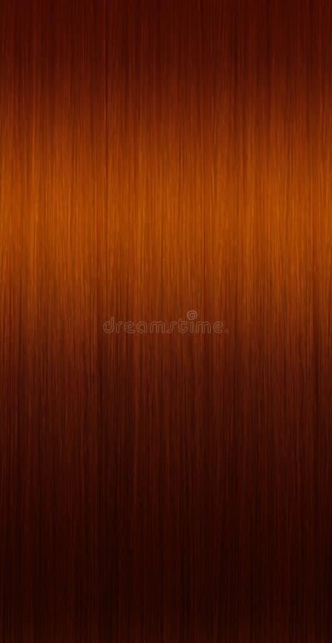 直接棕色头发 向量例证