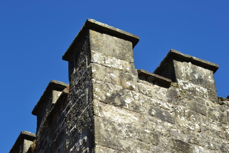 直线透视图被射击城堡 免版税库存图片