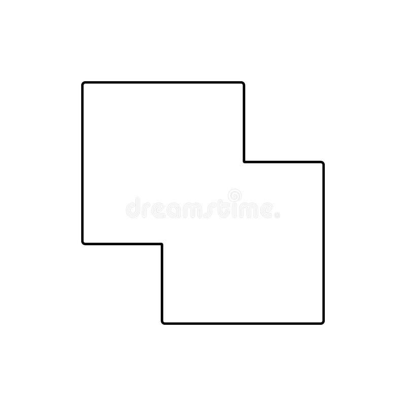相交的象两个正方形  网的元素流动概念和网应用程序象的 网站设计的稀薄的线象和 向量例证