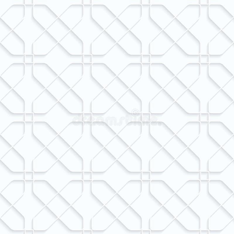 相交被环绕的长方形的Quilling白皮书 库存例证