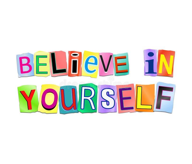 相信你自己 库存例证