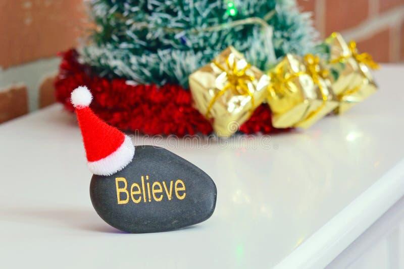 相信圣诞老人概念 库存照片