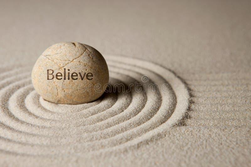 相信石头 免版税库存图片