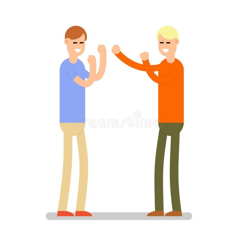 相冲突 两个人参与企业争执 Situatio 向量例证