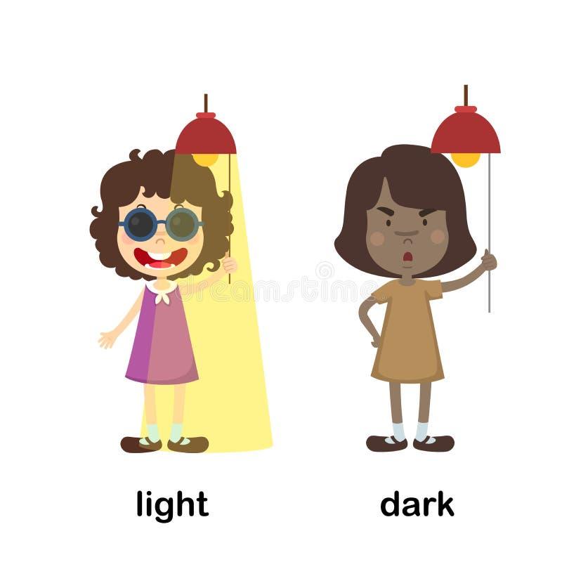 相反光和黑暗 向量例证