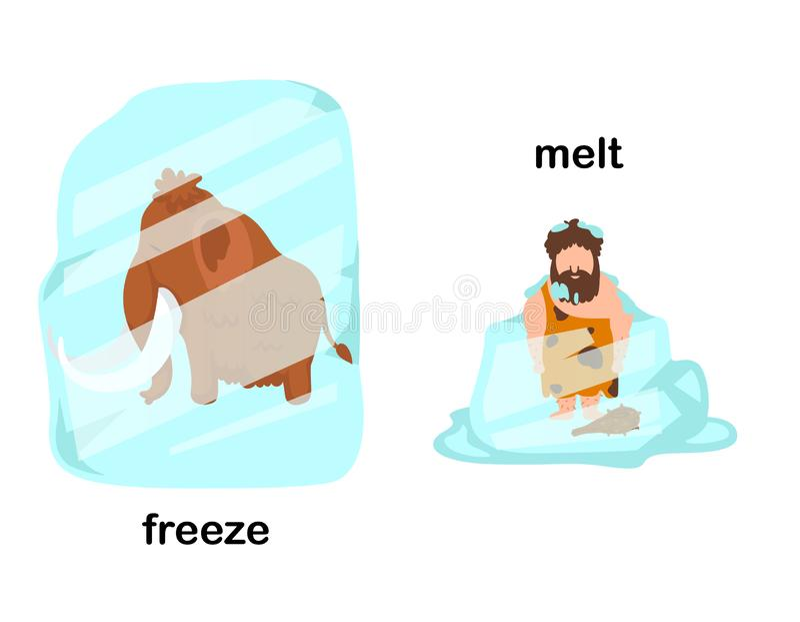 相反冻结和融解 库存例证