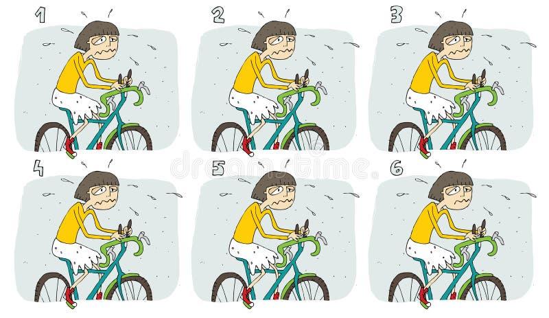 相对视觉比赛:自行车 向量例证