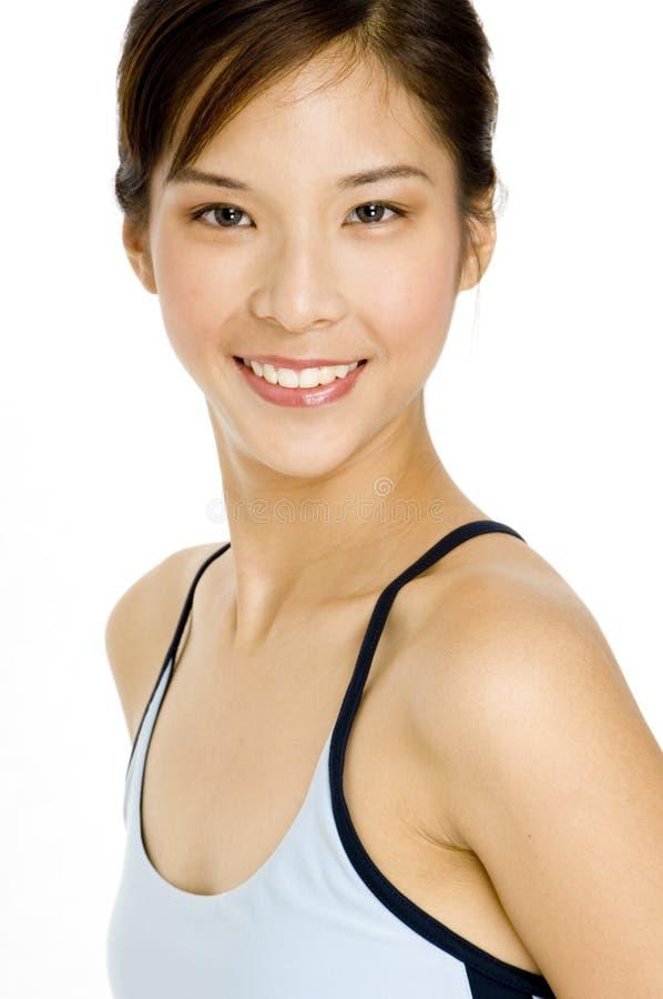 相当亚裔女孩 免版税库存照片