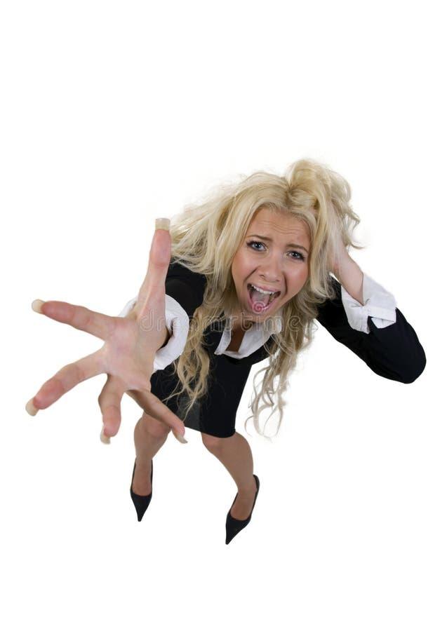 相当叫喊的女性 免版税图库摄影