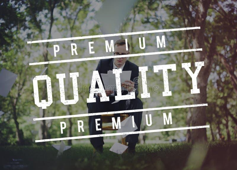 相当图表概念价值的优质质量标准价值 免版税库存照片