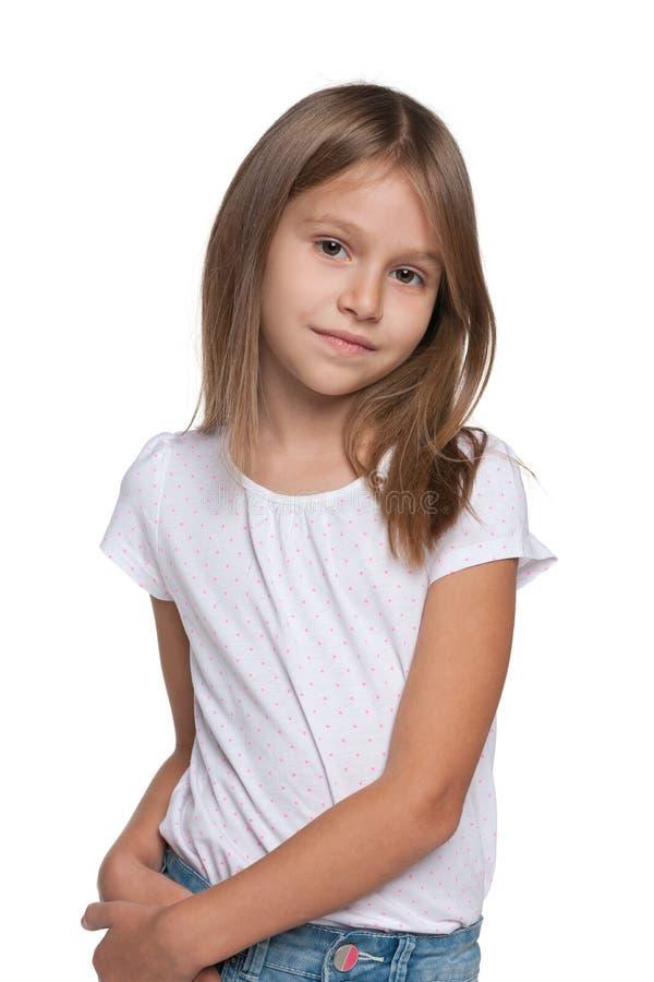 相当女孩年轻人 免版税图库摄影