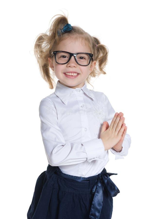 相当小女孩 免版税库存图片
