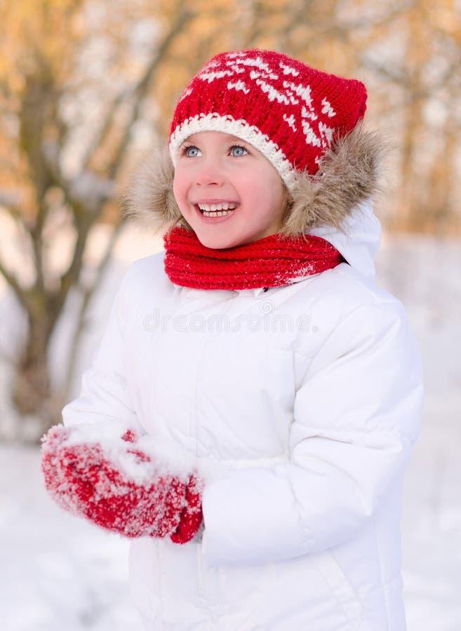 相当微笑的小女孩 图库摄影