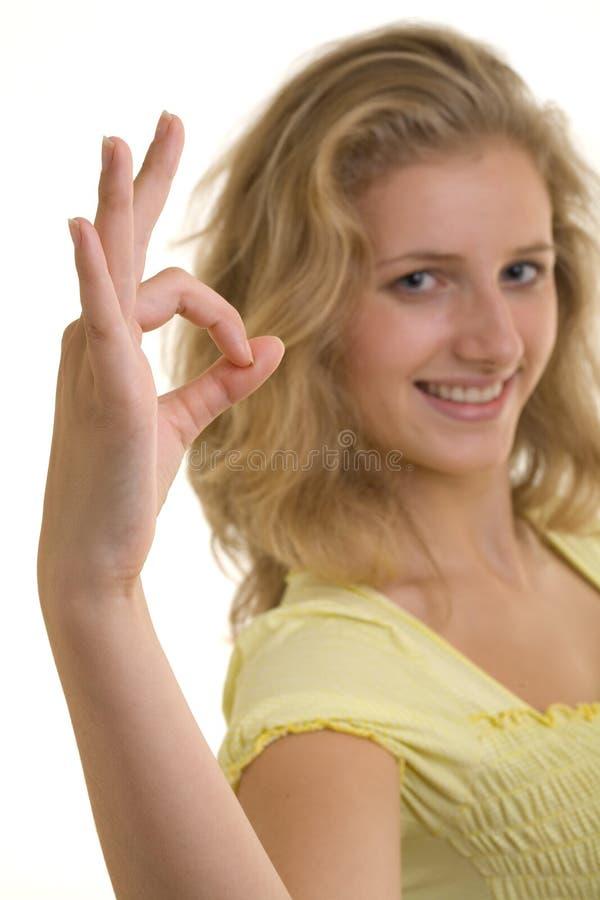 相当性感的微笑的妇女 库存照片