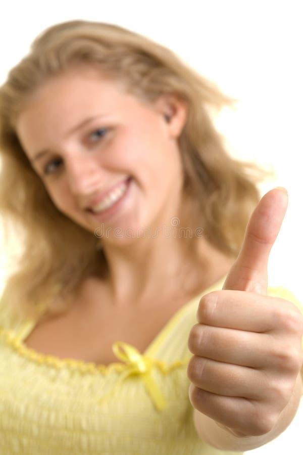 相当性感的微笑的妇女 免版税图库摄影