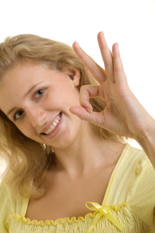 相当性感的微笑的妇女 免版税库存照片