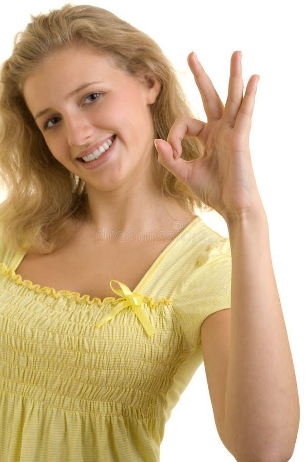 相当性感的微笑的妇女 图库摄影