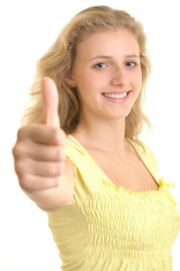 相当性感的微笑的妇女 免版税库存图片