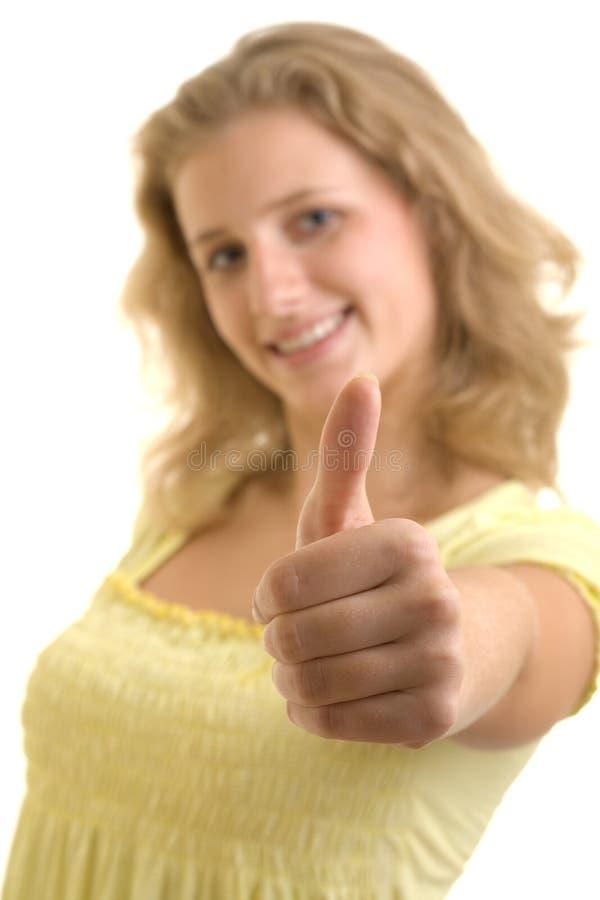 相当性感的微笑的妇女 库存图片