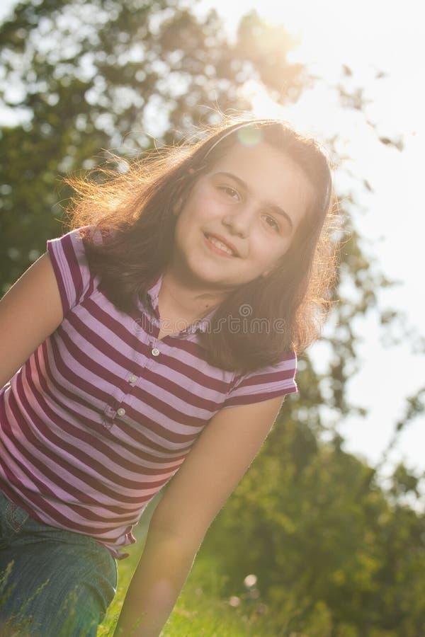 相当晴朗的女孩 库存图片