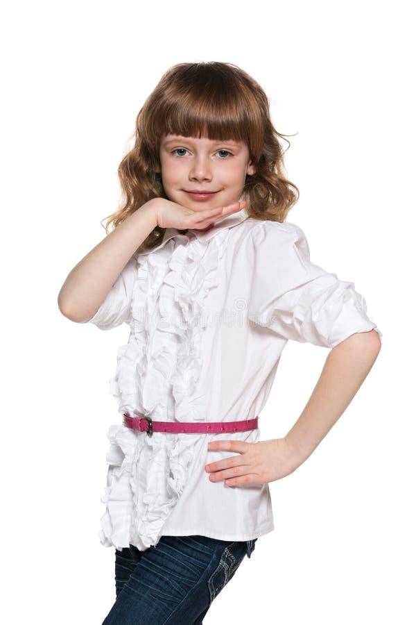 Download 相当白色女衬衫的女孩 库存照片. 图片 包括有 相当, 乐趣, 享受, 童年, 人们, 孩子, 欧洲, 姿态 - 30325136