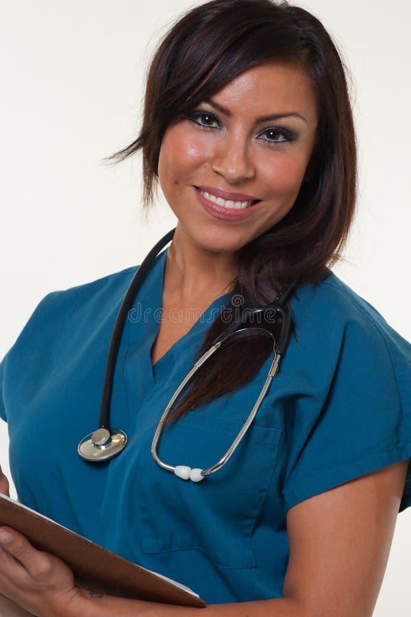 相当美国本地人医疗职业妇女 图库摄影