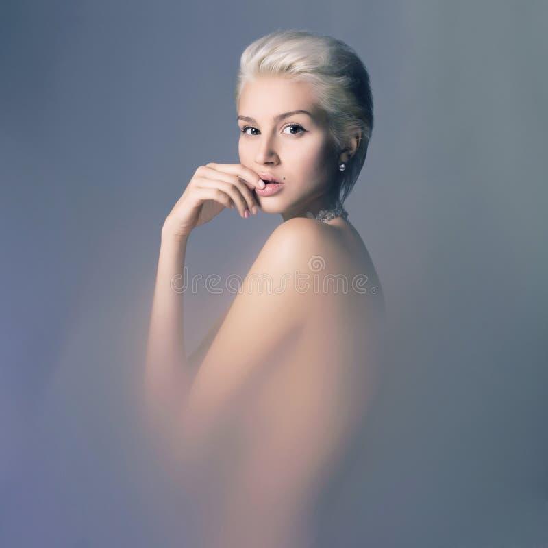 相当肉欲的裸体夫人 图库摄影