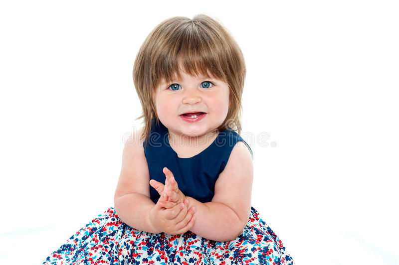 相当胖的小女孩 库存图片