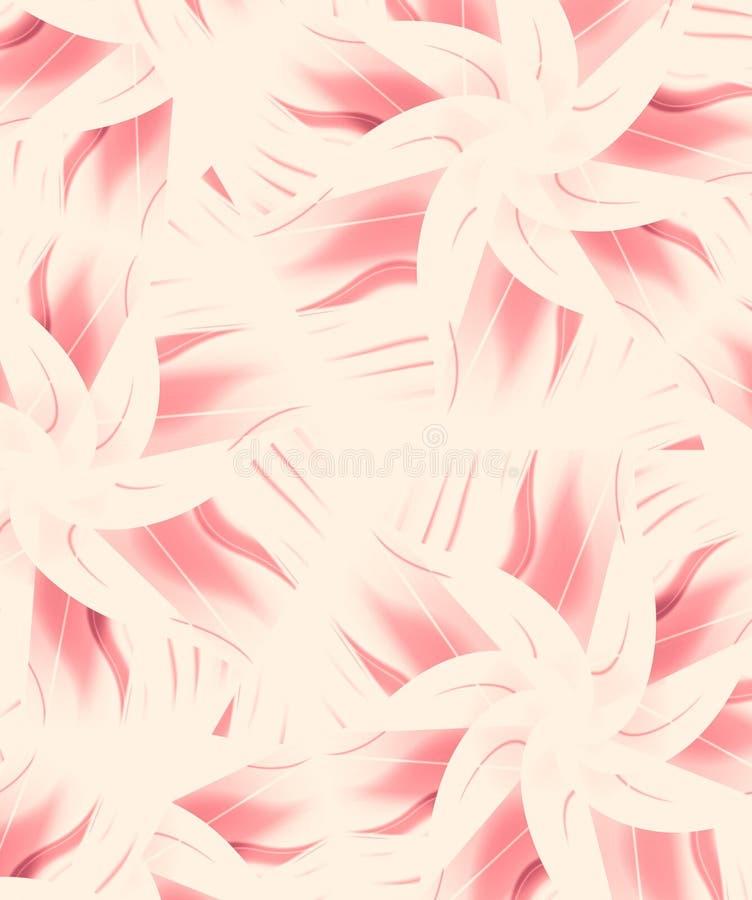相当花卉模式粉红色 皇族释放例证