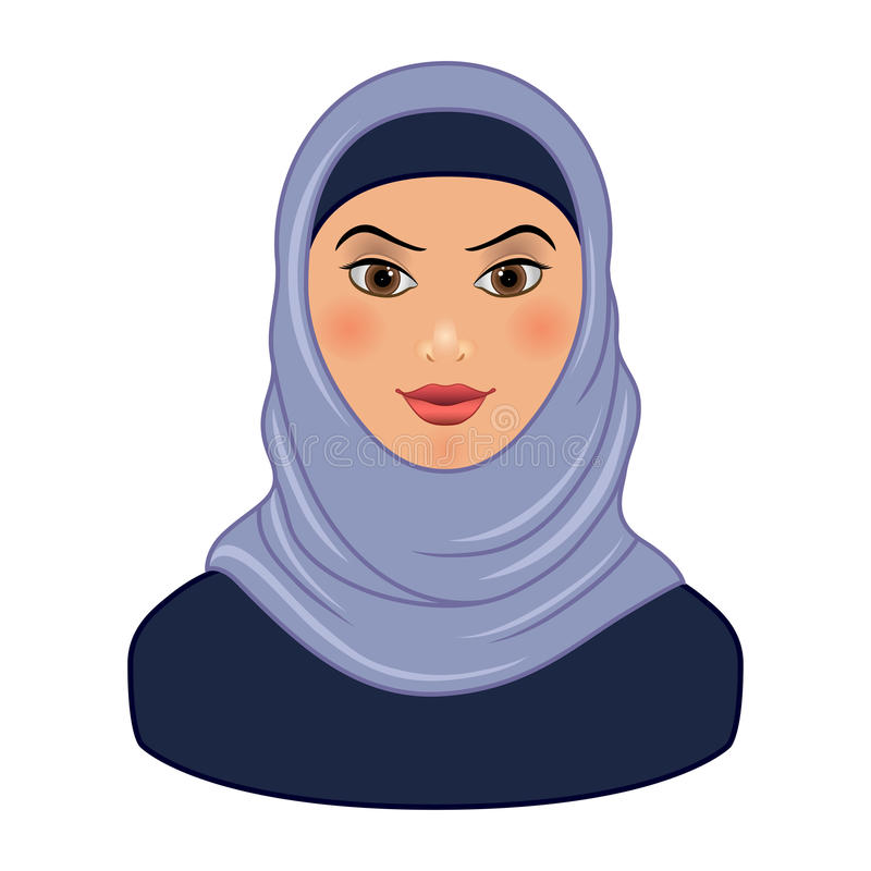 相当阿拉伯回教妇女被隔绝 向量例证