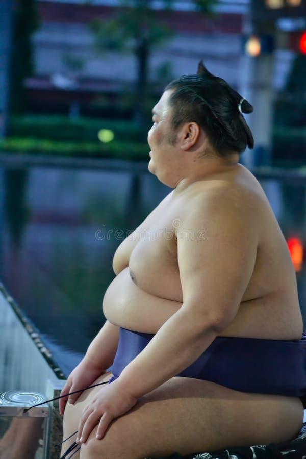 相扑在泰国 库存图片