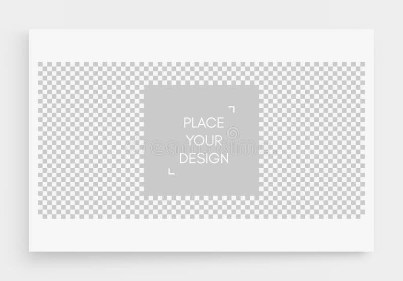 相框大模型 棋盘背景 您的设计的空格 r 向量例证