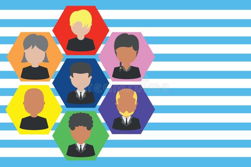 相框首席执行官和职员 公司工作的人员 组织系统图CEO雇员 队公司 向量例证