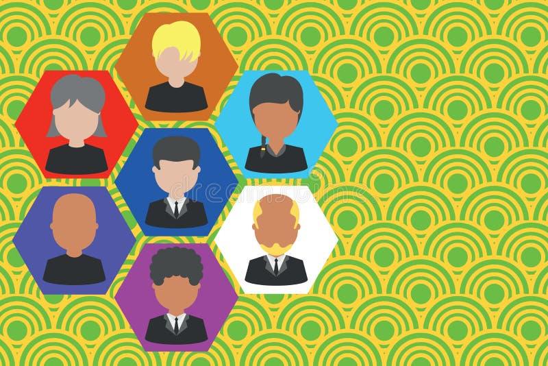 相框首席执行官和职员 公司工作的人员 组织系统图CEO雇员 队公司 皇族释放例证