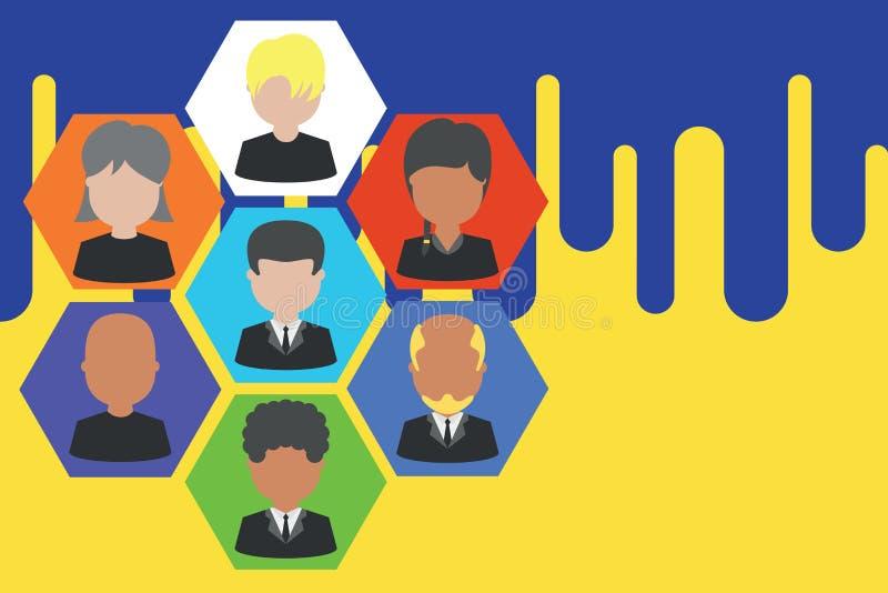 相框首席执行官和职员 公司工作的人员 组织系统图CEO雇员 队公司 库存例证