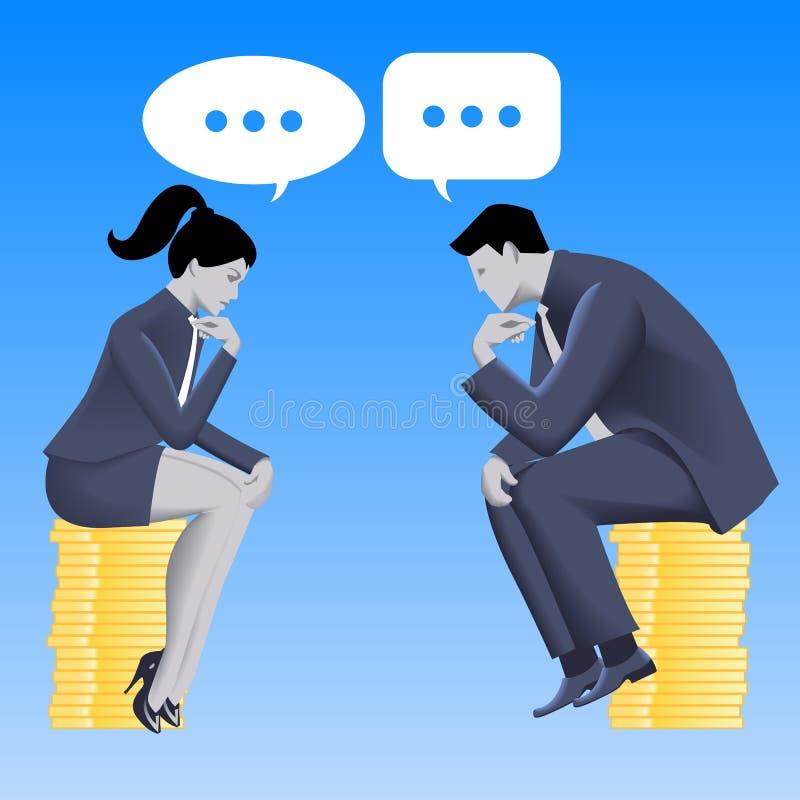 相等的合作企业概念 向量例证