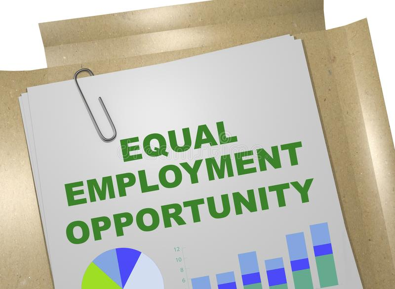 相等的工作机会概念 向量例证