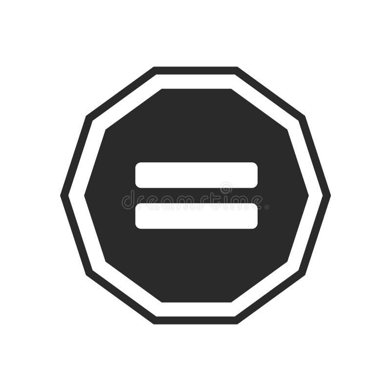 相等的象在白色背景隔绝的传染媒介标志和标志,相等的商标概念 向量例证