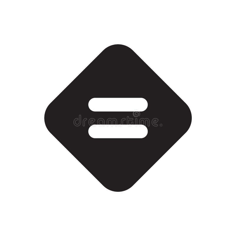 相等的象在白色背景隔绝的传染媒介标志和标志,相等的商标概念 皇族释放例证