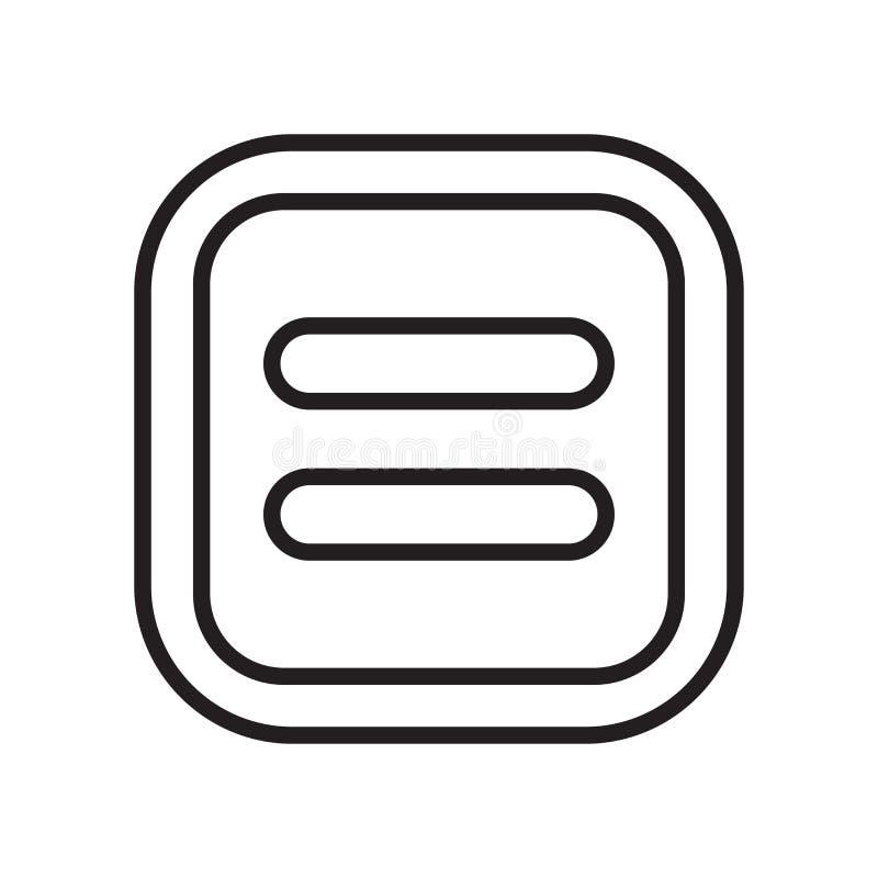 相等的象在白色背景隔绝的传染媒介标志和标志 皇族释放例证
