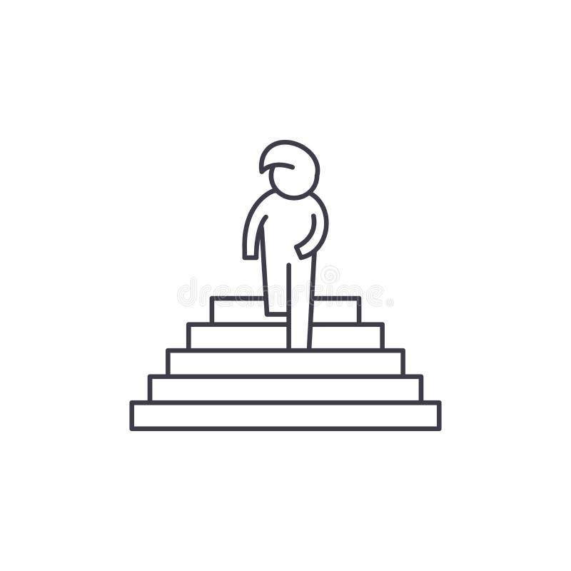 盼望的线象概念 盼望的传染媒介线性例证,标志,标志 库存例证
