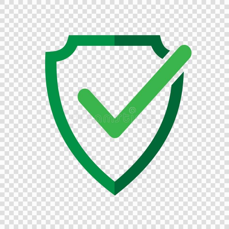 盾校验标志商标象 库存例证