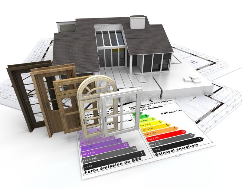 省能源的建筑 库存例证