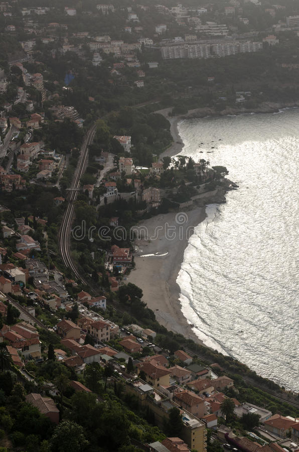 看下来在Roquebrune盖帽马丁 免版税库存图片