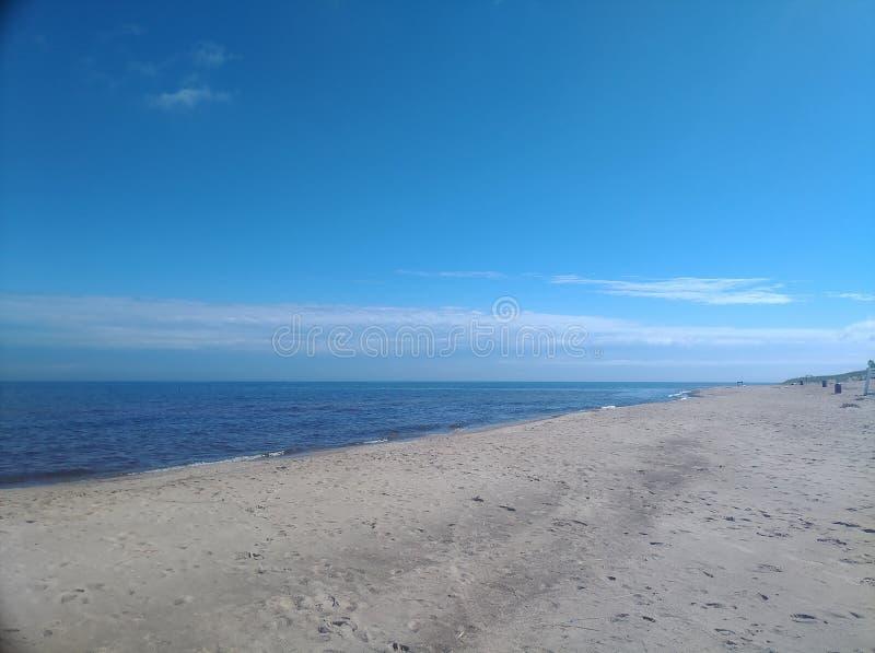 看东部下来海滩印第安纳沙丘 库存照片
