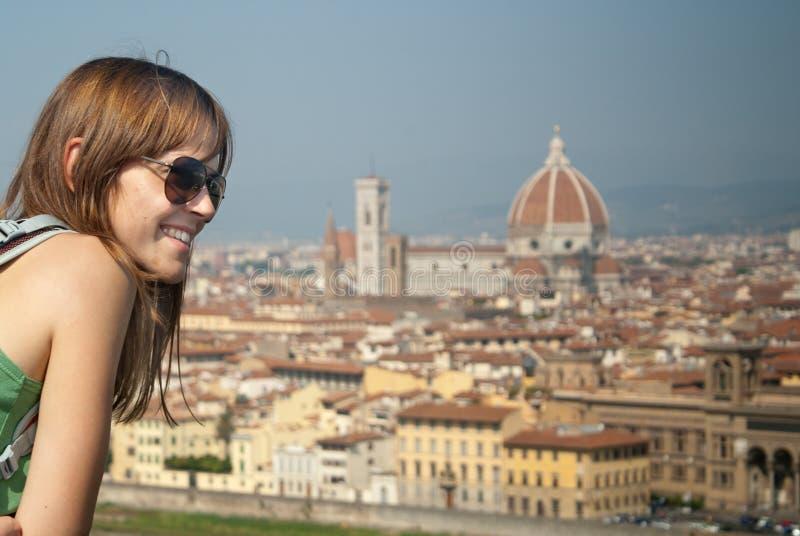 看佛罗伦萨的妇女 免版税库存图片