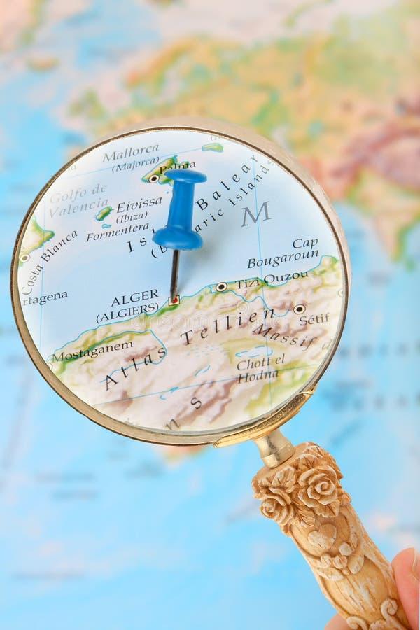 看在阿尔及尔,非洲 免版税库存图片