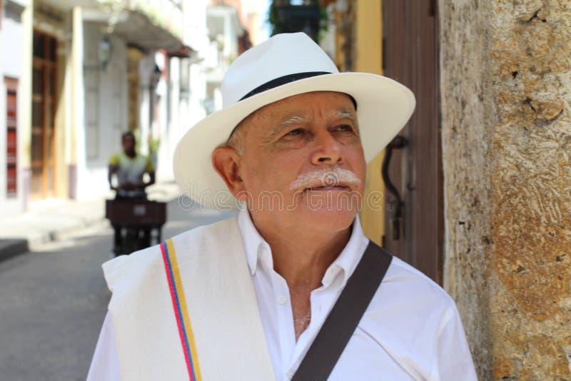 看年长拉丁美州的人  库存照片